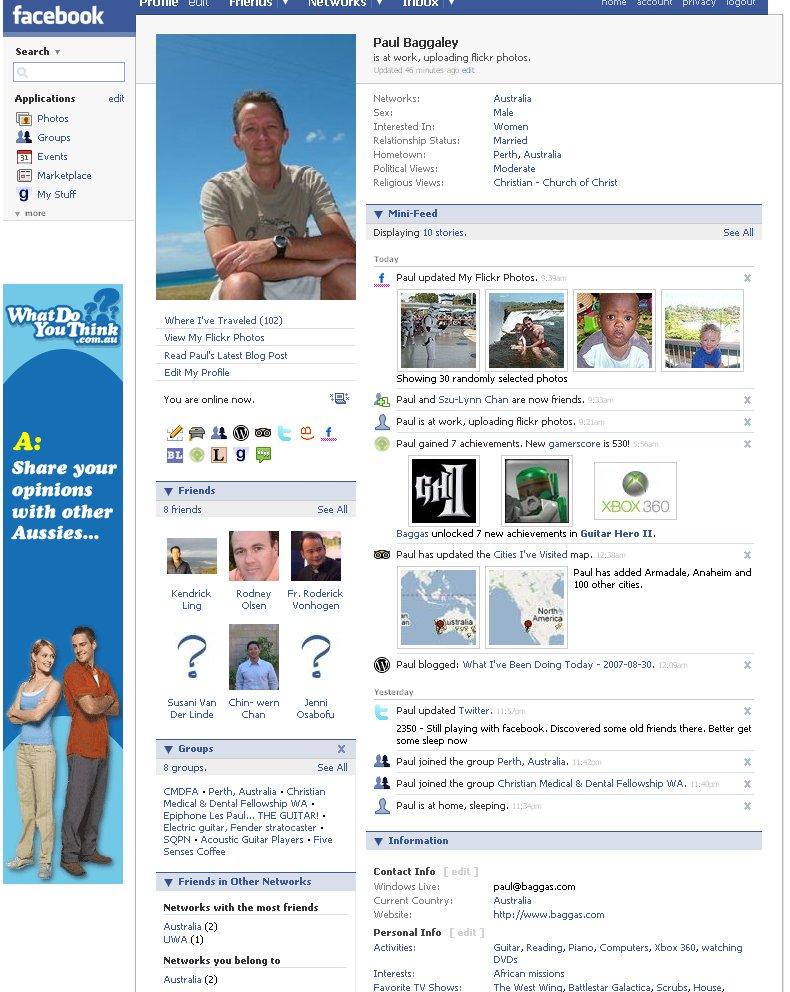 facebook 2007 profile 2