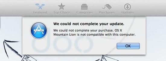 Error reinstalar OS X Lion Algunos Mac del 2012 no pueden reinstalar OS X Mountain Lion