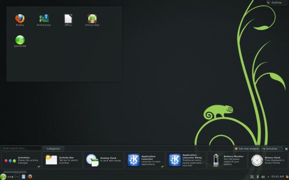 openSUSE 12.3: Introducción a KDE Plasma Desktop